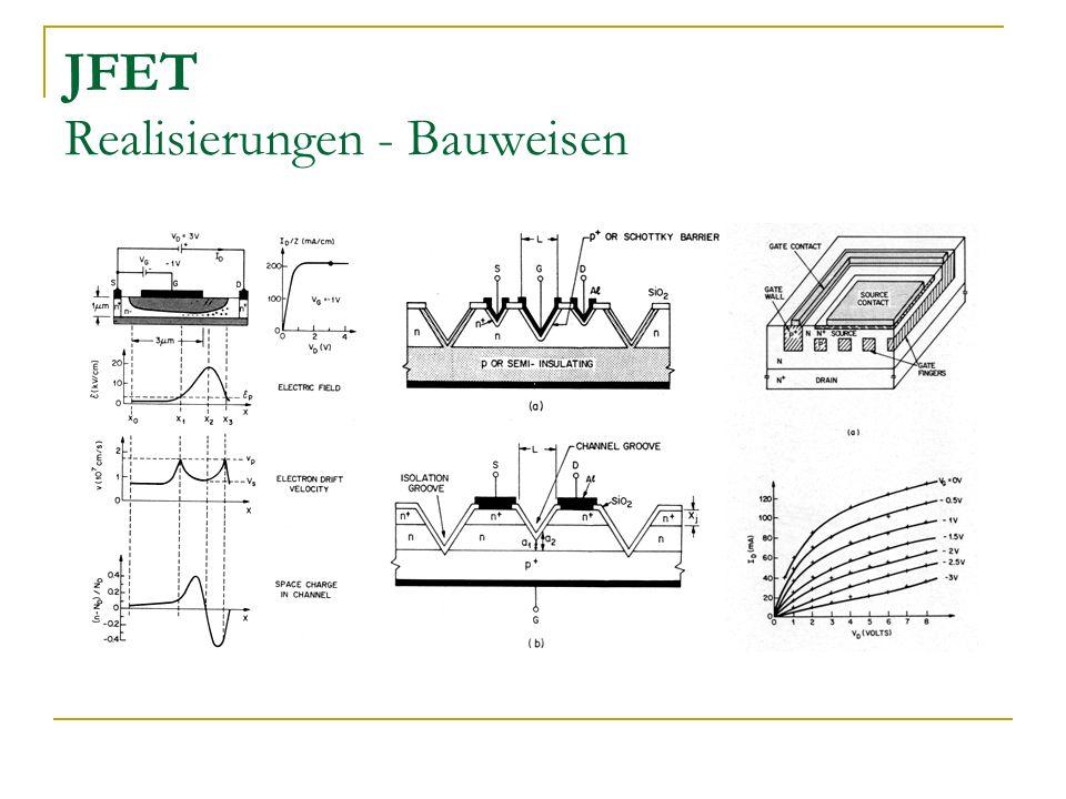 JFET Realisierungen - Bauweisen