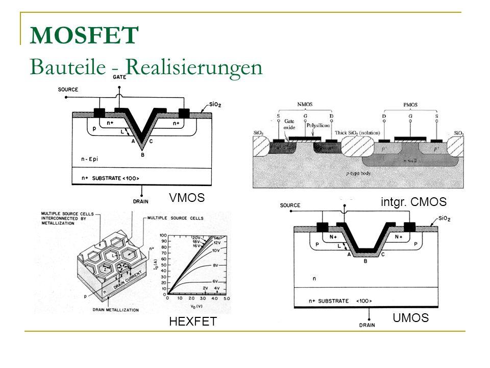 MOSFET Bauteile - Realisierungen