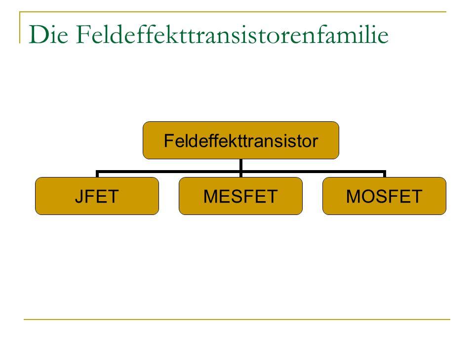 Die Feldeffekttransistorenfamilie