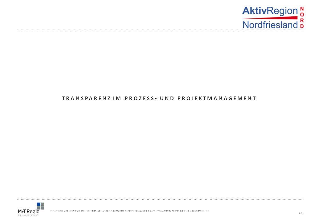 Transparenz im prozess- und projektmanagement