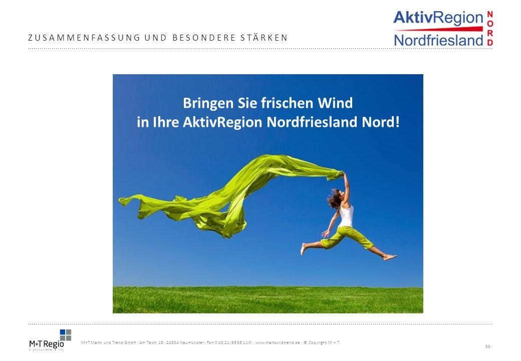 Bringen Sie frischen Wind in Ihre AktivRegion Nordfriesland Nord!