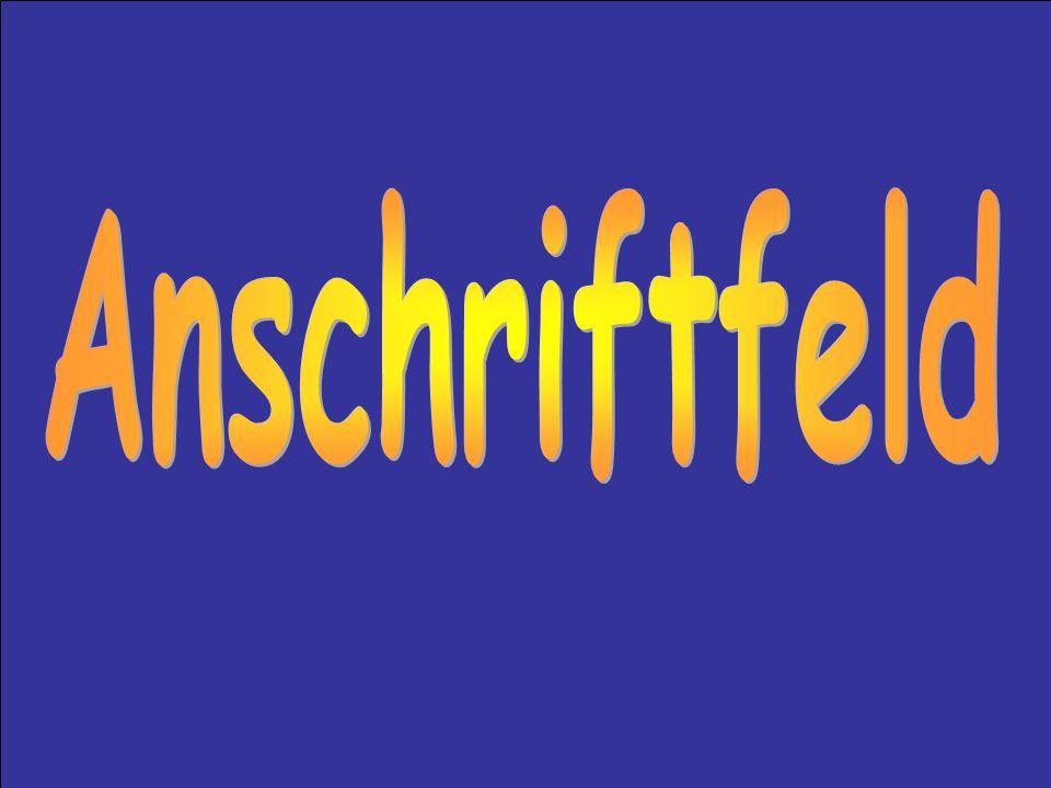 Anschriftfeld