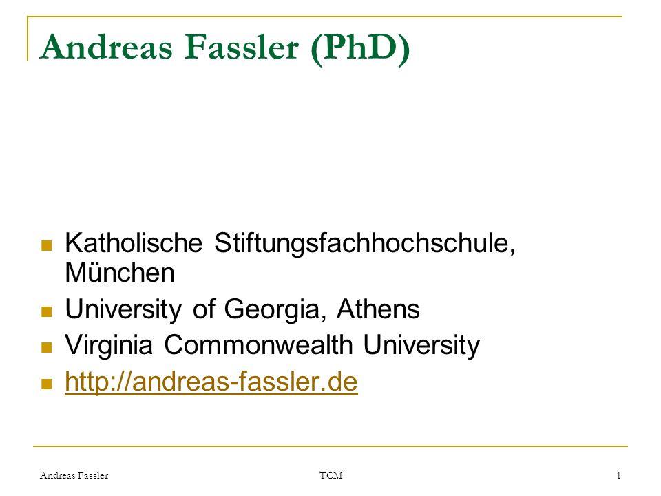 Andreas Fassler (PhD) Katholische Stiftungsfachhochschule, München
