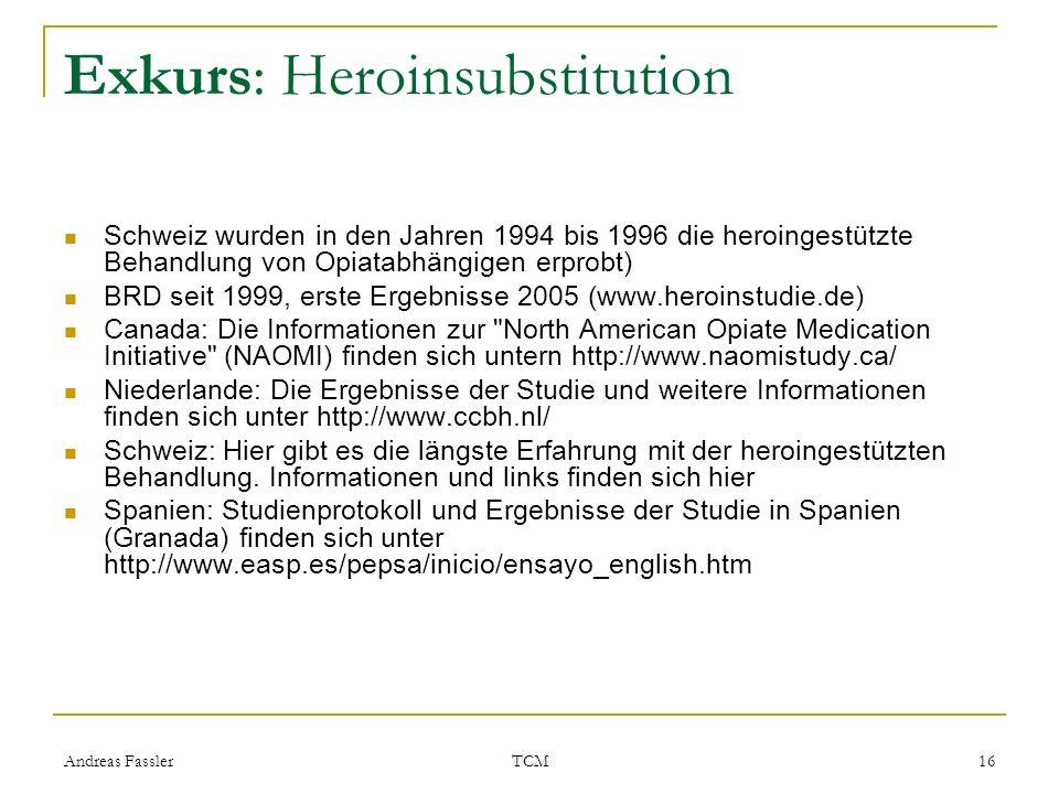 Exkurs: Heroinsubstitution