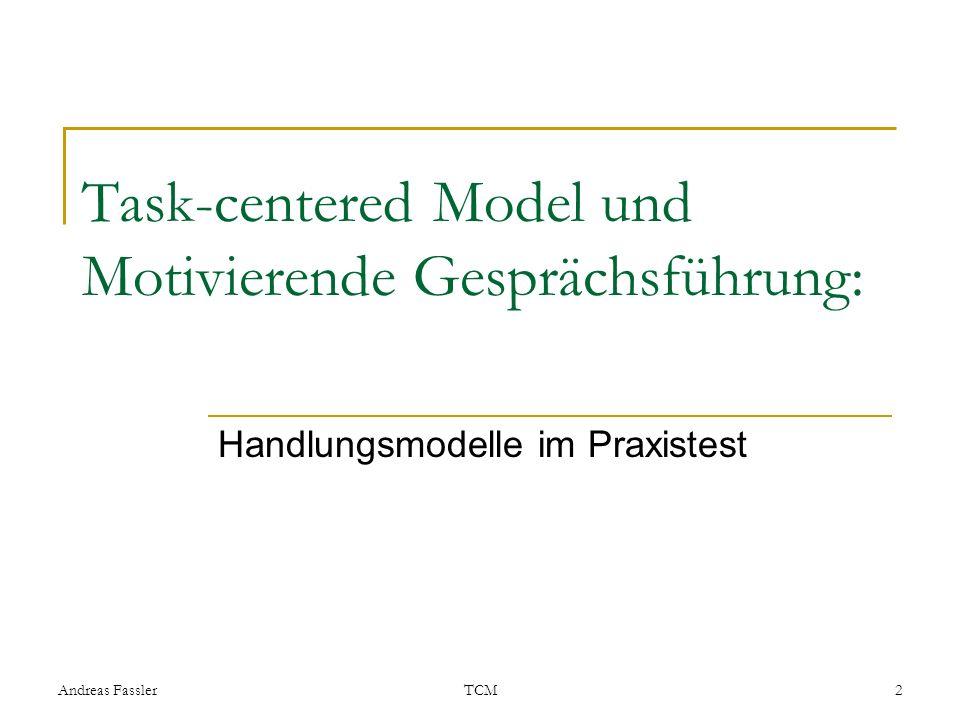 Task-centered Model und Motivierende Gesprächsführung: