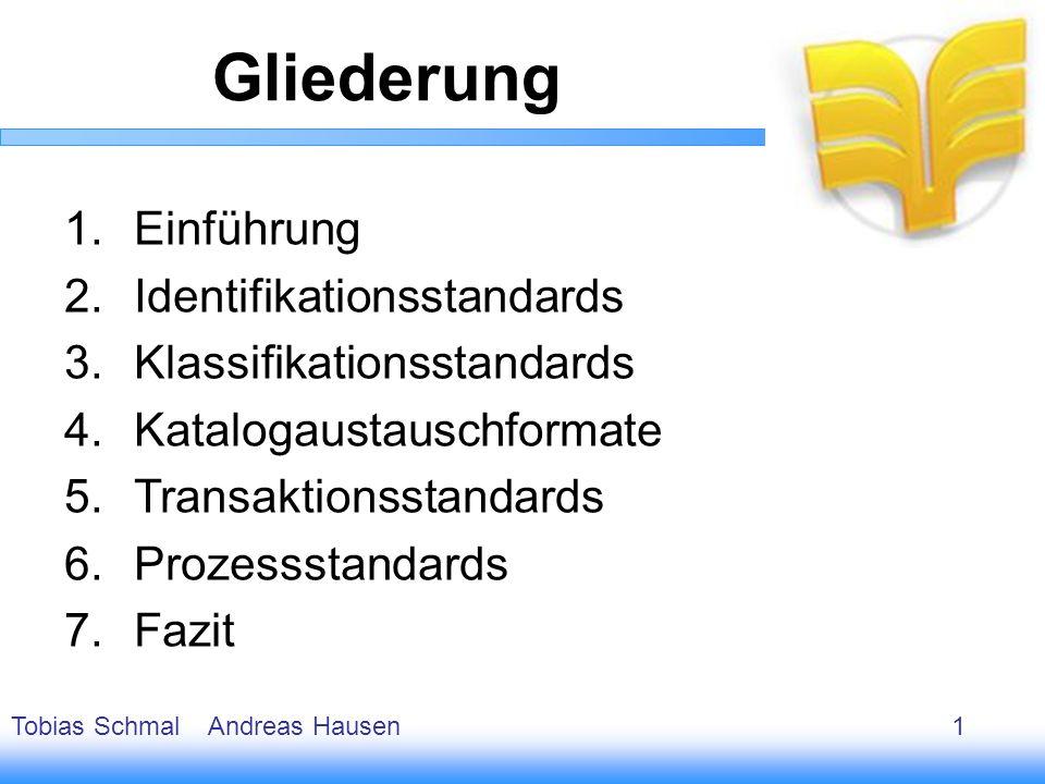 Gliederung Einführung Identifikationsstandards
