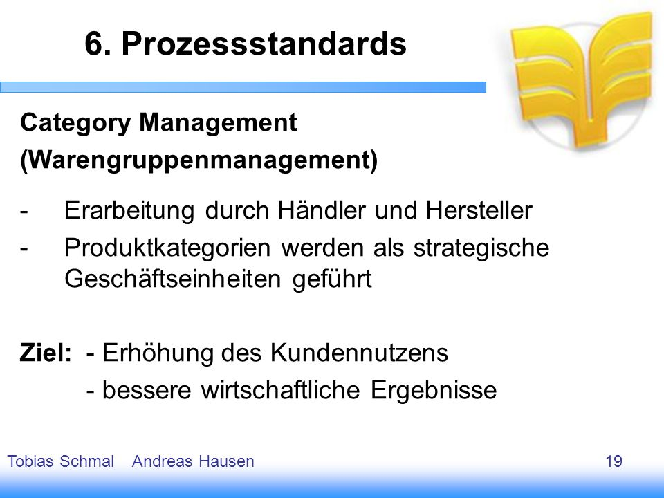 6. Prozessstandards Category Management (Warengruppenmanagement)
