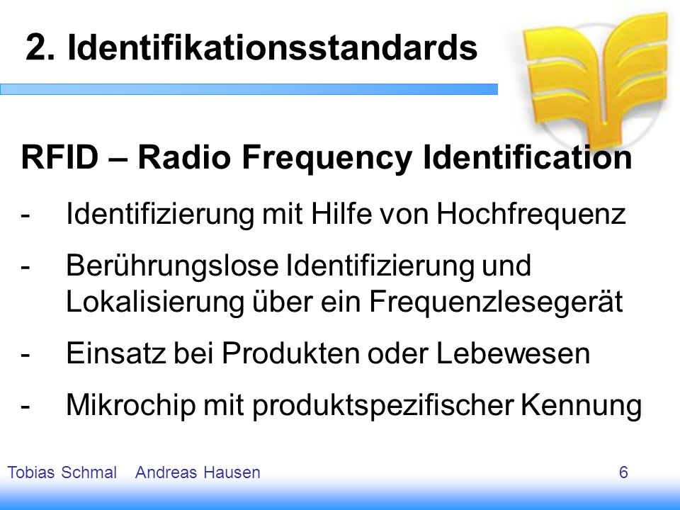 2. Identifikationsstandards