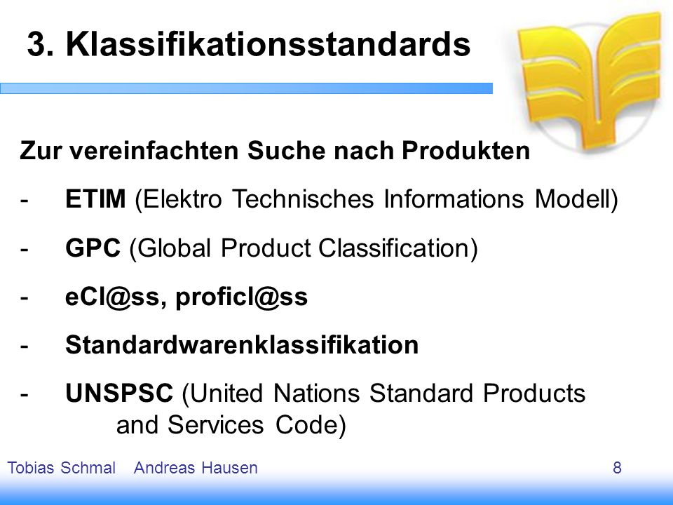3. Klassifikationsstandards