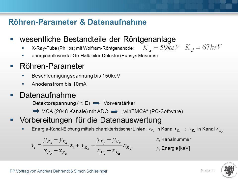 Röhren-Parameter & Datenaufnahme
