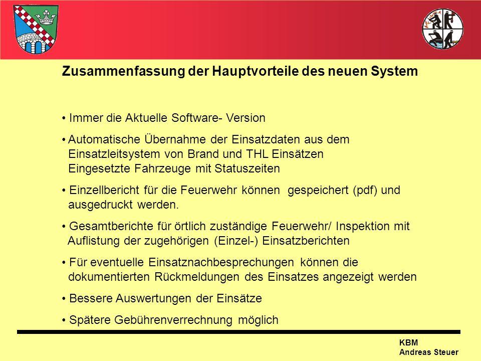 Zusammenfassung der Hauptvorteile des neuen System