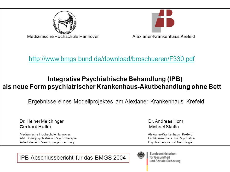 Integrative Psychiatrische Behandlung (IPB)