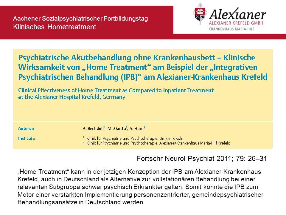 Fortschr Neurol Psychiat 2011; 79: 26–31