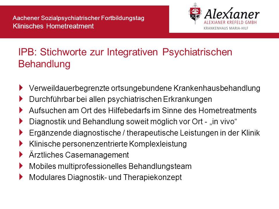 IPB: Stichworte zur Integrativen Psychiatrischen Behandlung