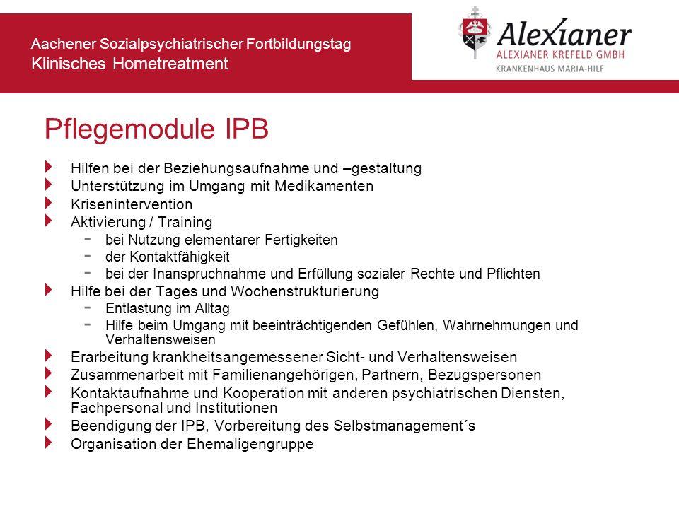 Pflegemodule IPB Hilfen bei der Beziehungsaufnahme und –gestaltung