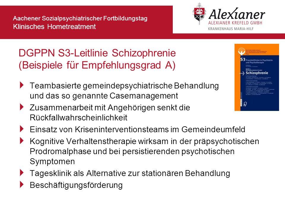 DGPPN S3-Leitlinie Schizophrenie (Beispiele für Empfehlungsgrad A)