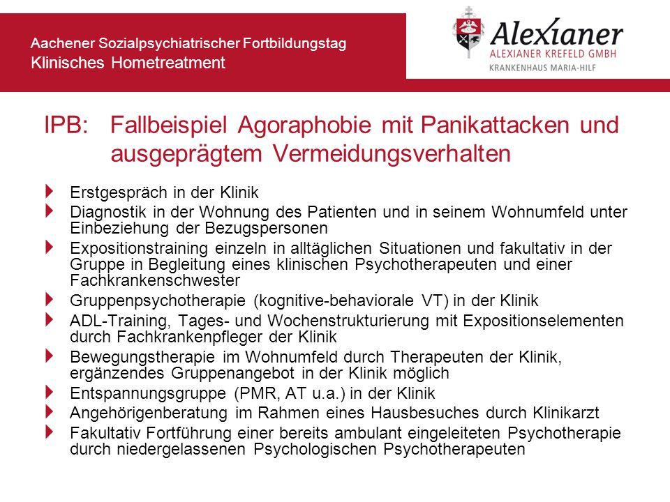 IPB: Fallbeispiel Agoraphobie mit Panikattacken und