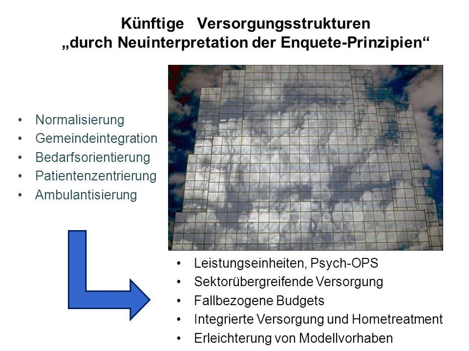 """Künftige Versorgungsstrukturen """"durch Neuinterpretation der Enquete-Prinzipien"""