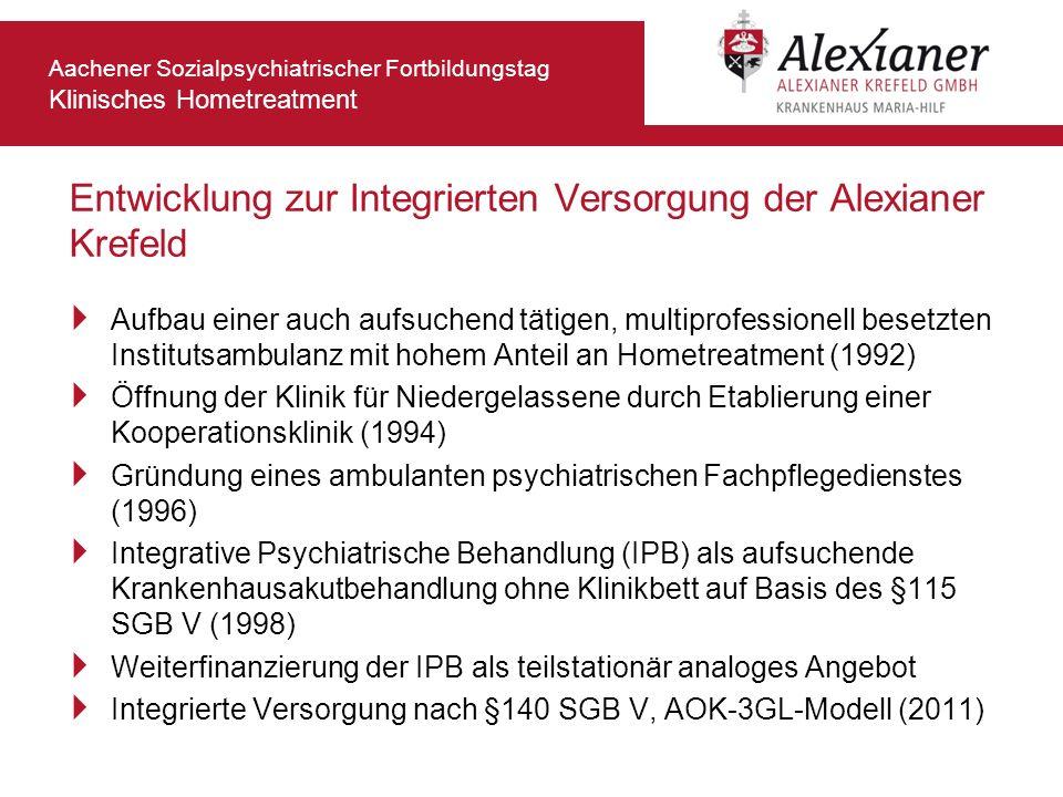 Entwicklung zur Integrierten Versorgung der Alexianer Krefeld