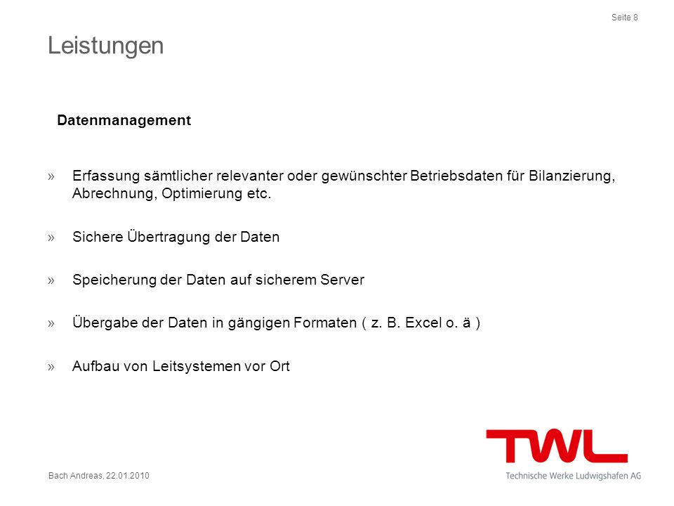 Datenmanagement Leistungen