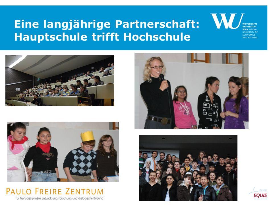 Eine langjährige Partnerschaft: Hauptschule trifft Hochschule
