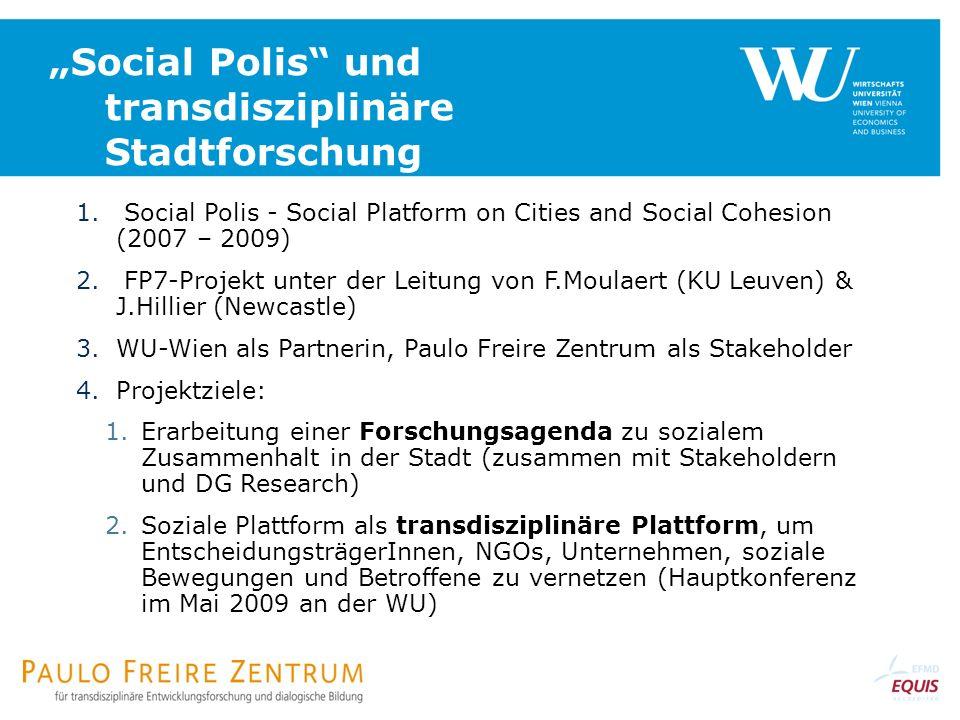 """Social Polis und transdisziplinäre Stadtforschung"