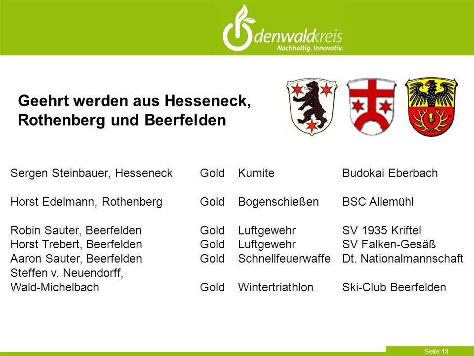 Geehrt werden aus Hesseneck, Rothenberg und Beerfelden