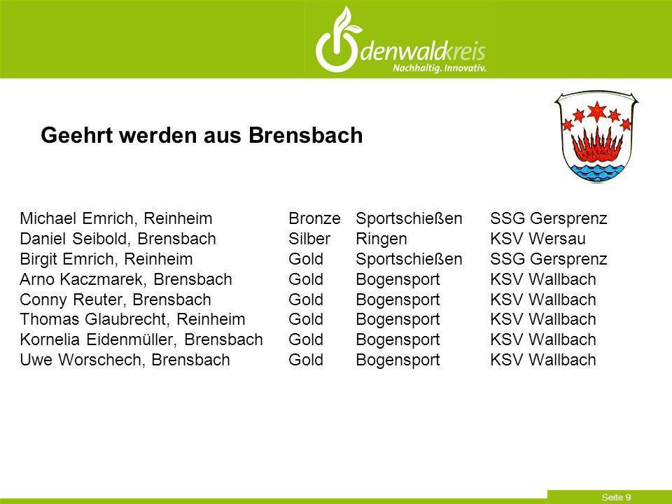 Geehrt werden aus Brensbach