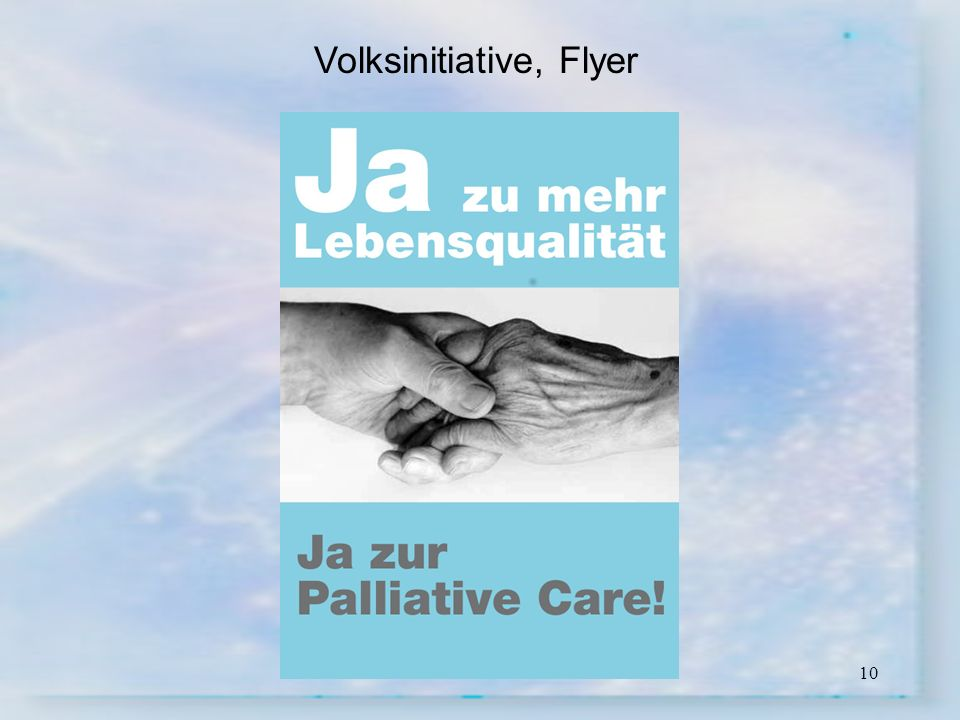 Volksinitiative, Flyer