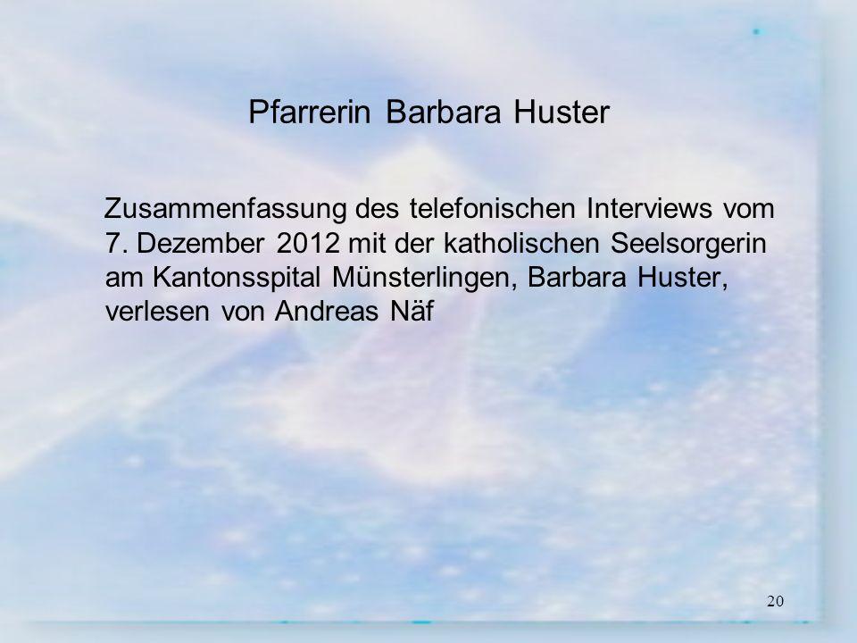 Pfarrerin Barbara Huster