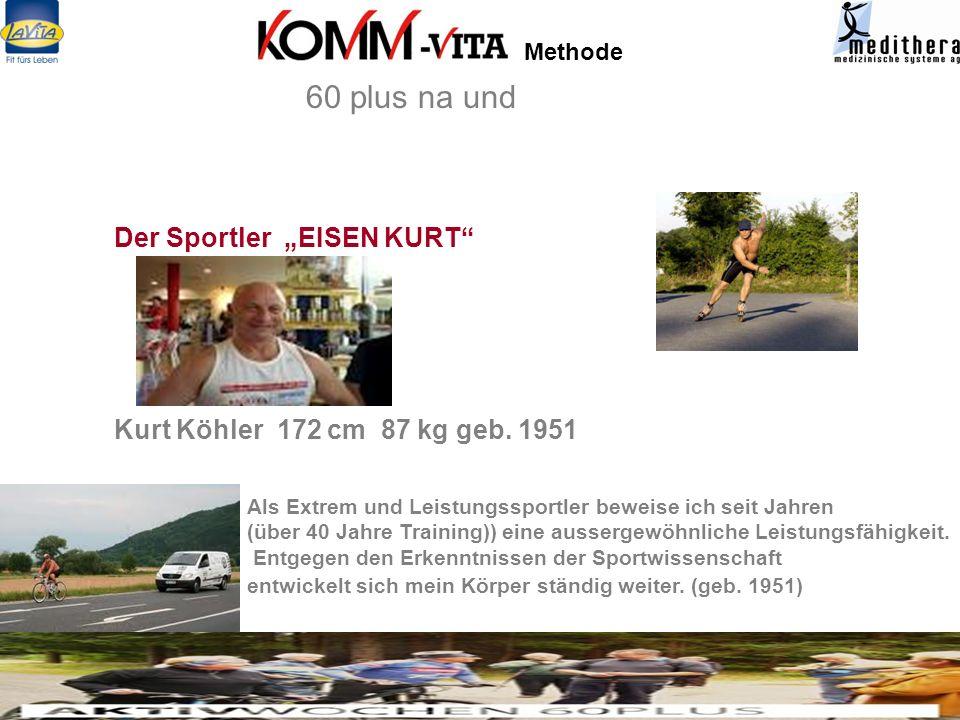 """60 plus na und Der Sportler """"EISEN KURT"""
