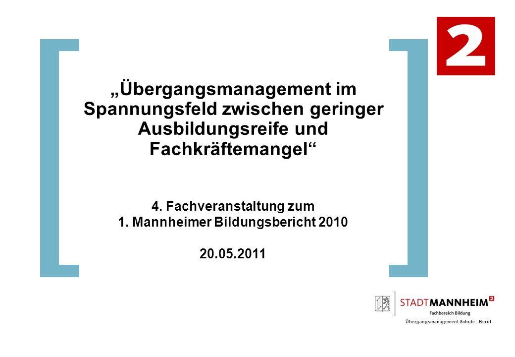 """""""Übergangsmanagement im Spannungsfeld zwischen geringer"""