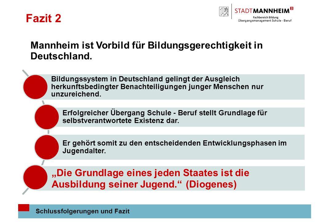 Fazit 2 Mannheim ist Vorbild für Bildungsgerechtigkeit in Deutschland.