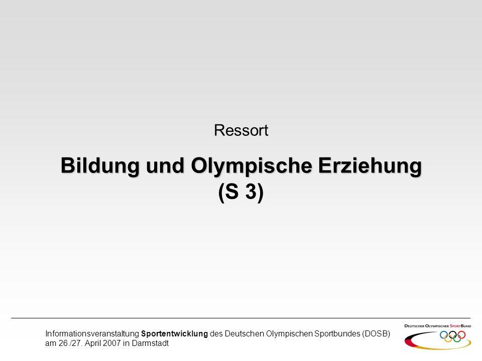 Bildung und Olympische Erziehung (S 3)