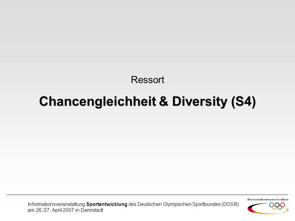 Chancengleichheit & Diversity (S4)