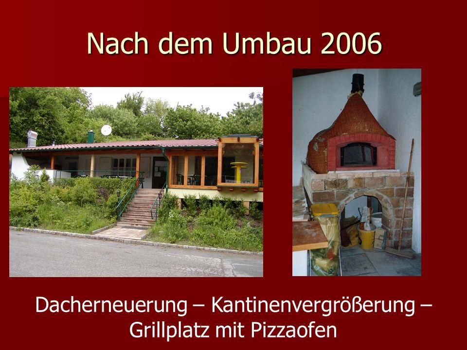Dacherneuerung – Kantinenvergrößerung – Grillplatz mit Pizzaofen