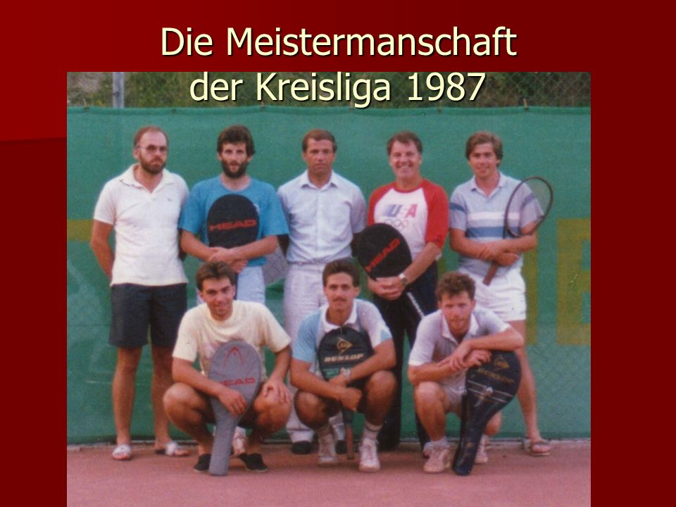 Die Meistermanschaft der Kreisliga 1987