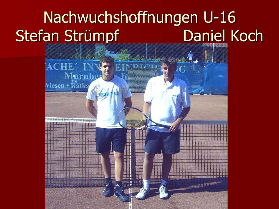 Nachwuchshoffnungen U-16 Stefan Strümpf Daniel Koch