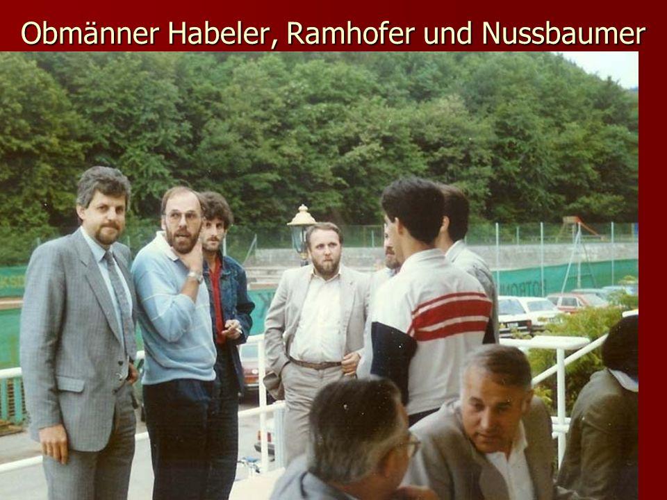 Obmänner Habeler, Ramhofer und Nussbaumer