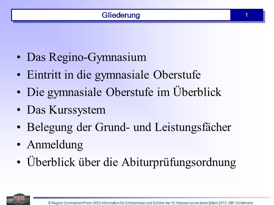 Unsere Schule, das Regino-Gymnasium in Prüm