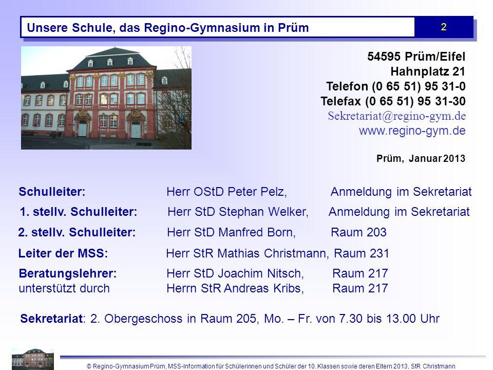 Das Regino-Gymnasium vor ca. 20 Jahren