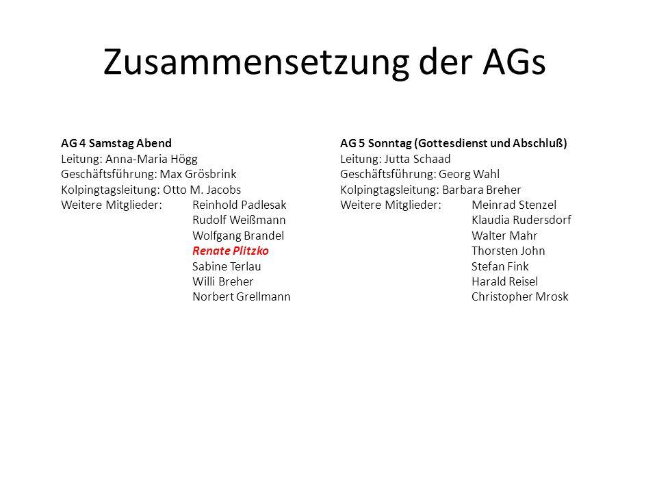 Zusammensetzung der AGs