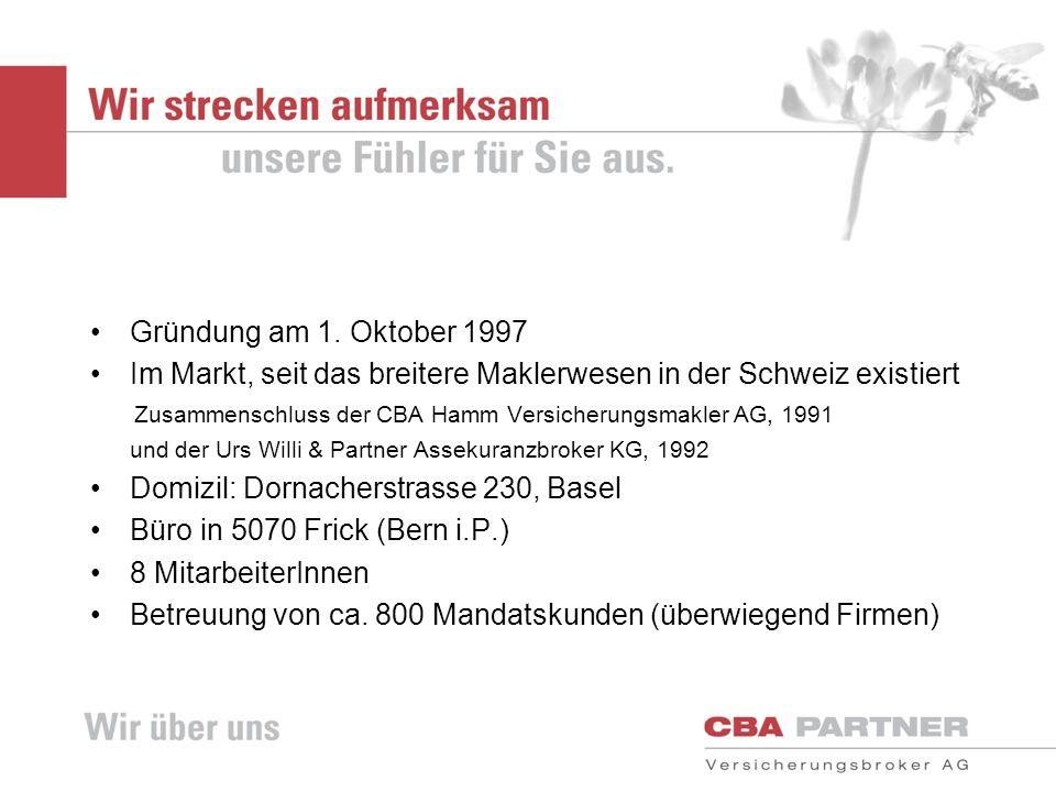 Im Markt, seit das breitere Maklerwesen in der Schweiz existiert