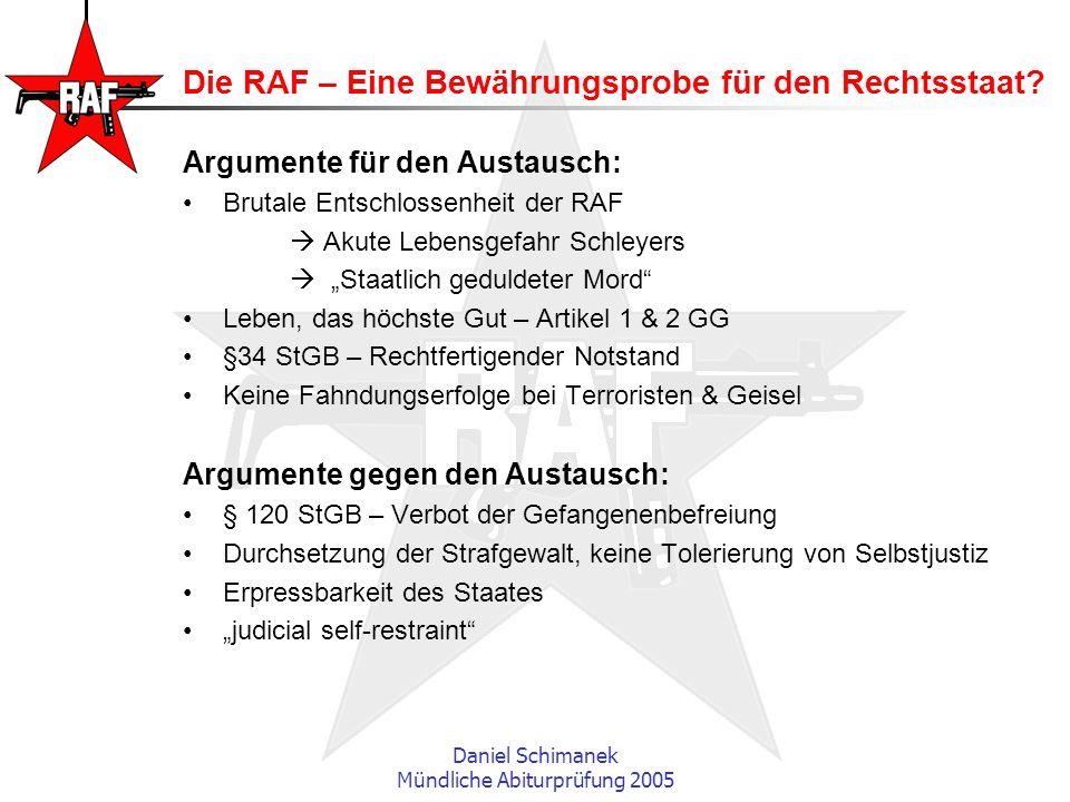Die RAF – Eine Bewährungsprobe für den Rechtsstaat