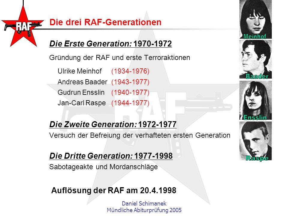 Die drei RAF-Generationen