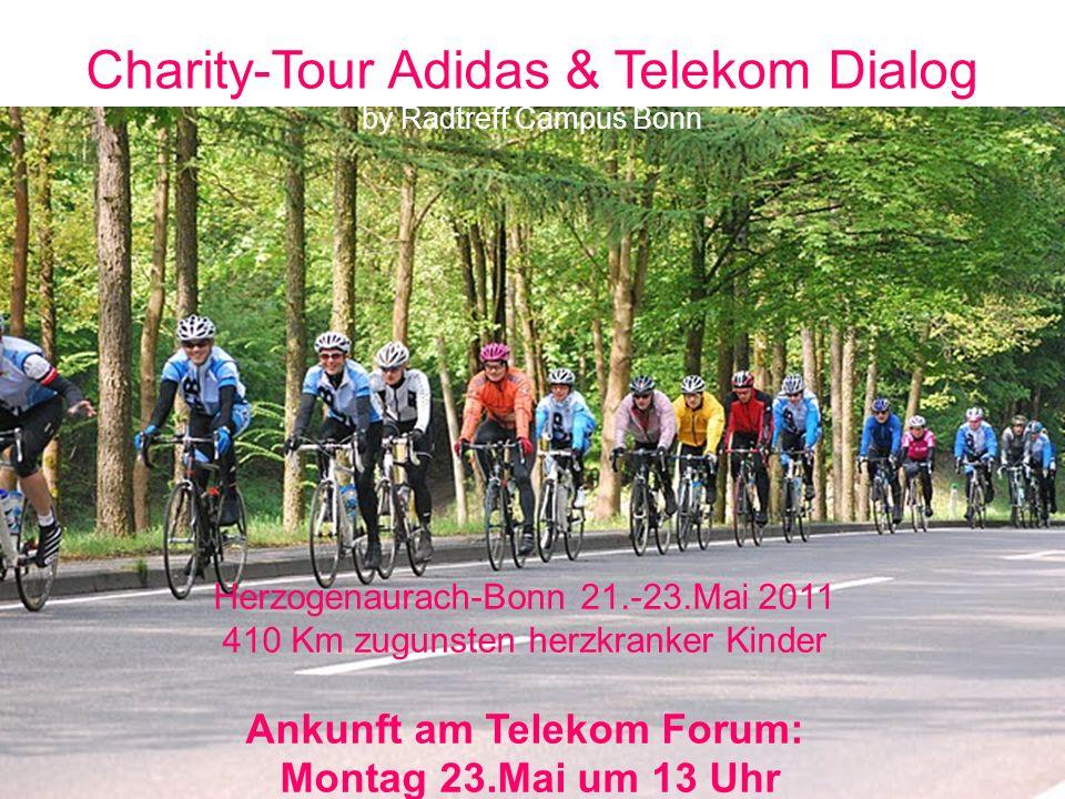 Charity-Tour Adidas & Telekom Dialog by Radtreff Campus Bonn