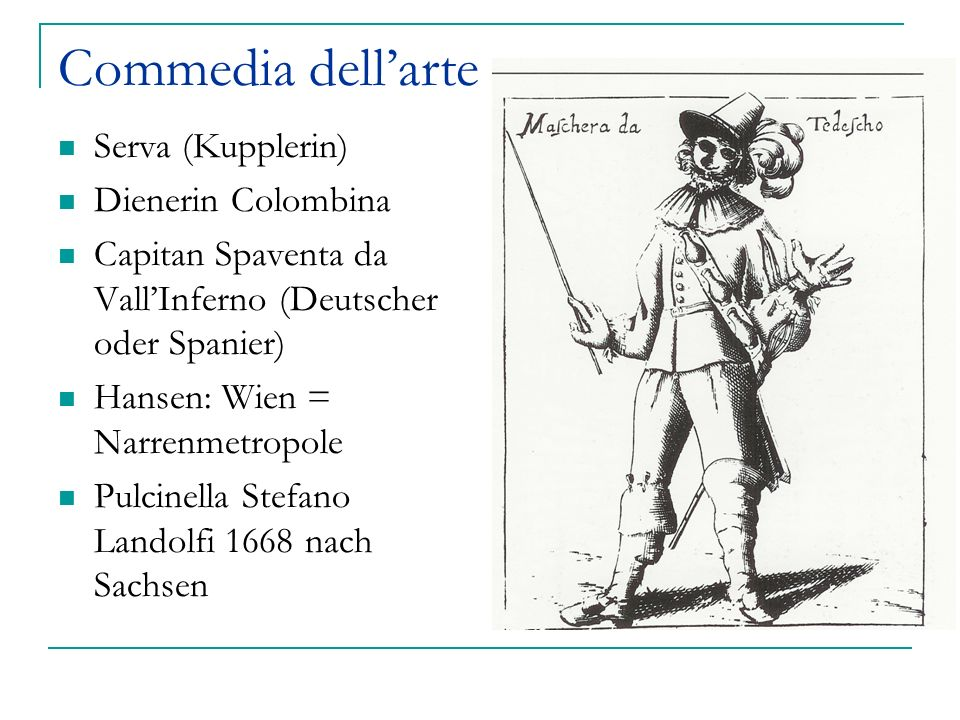Commedia dell'arte Serva (Kupplerin) Dienerin Colombina