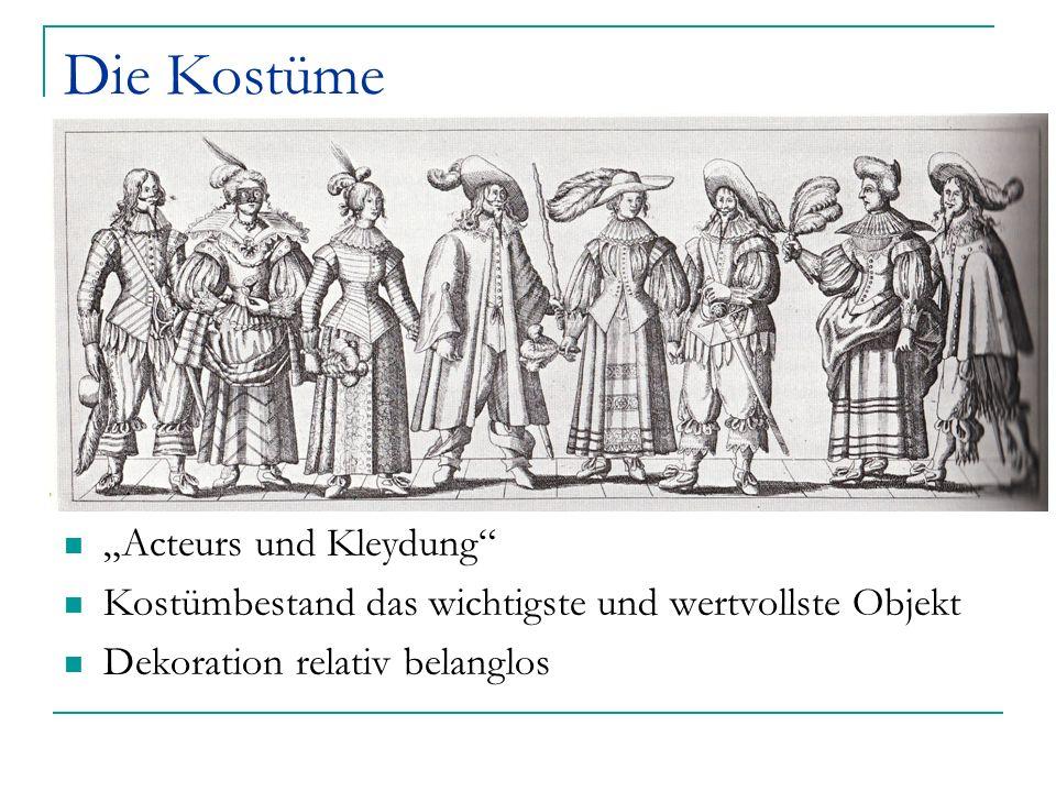 """Die Kostüme """"Acteurs und Kleydung"""