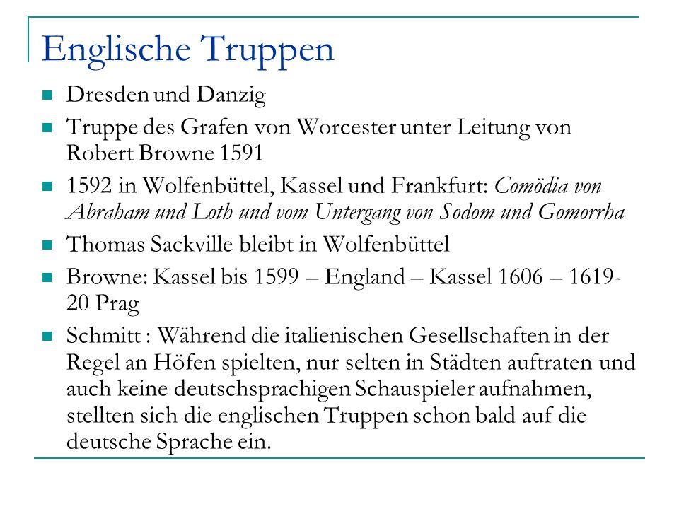 Englische Truppen Dresden und Danzig