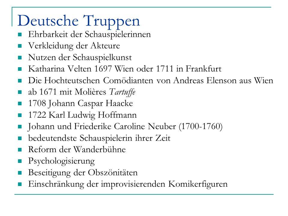 Deutsche Truppen Ehrbarkeit der Schauspielerinnen